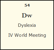Dyslexia IV World Meeting